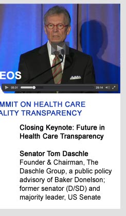Summit on Health Care Price, Cost and Quality Transparency